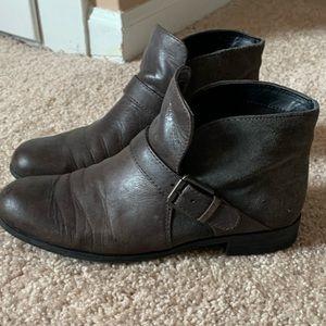 Gray booties by Franco Sarto